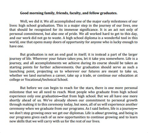 graduation speech template speech exles 23 free documents in pdf word