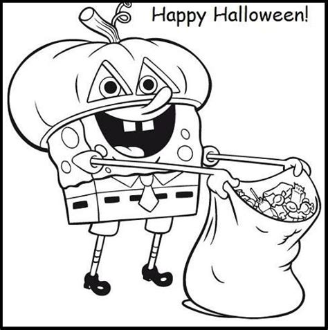 coloring pages spongebob halloween 60 best halloween images on pinterest coloring pictures