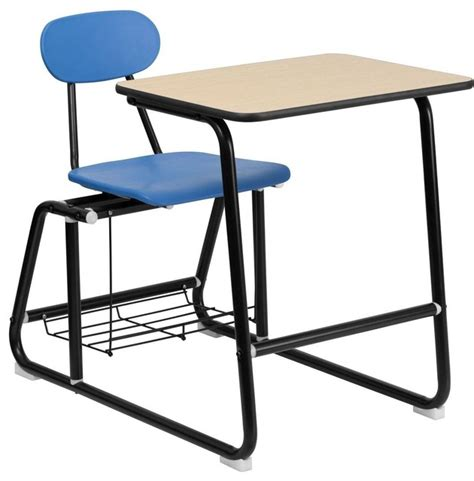 Hercules Series Student Combo Desk With Blue Chair Blue Student Desk
