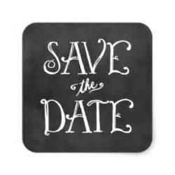 Save the date sticker black chalkboard charm
