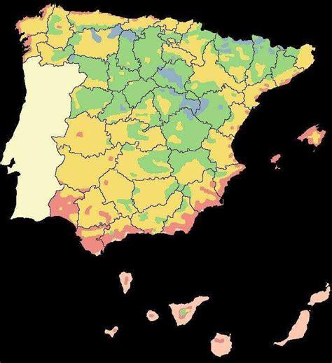 zonas climaticas de espana las zonas climaticas de espa 209 a