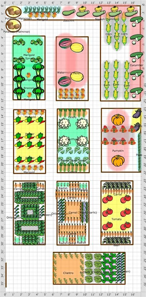 Companion Planting Vegetable Garden Layout Garden Layout Companion Gardening