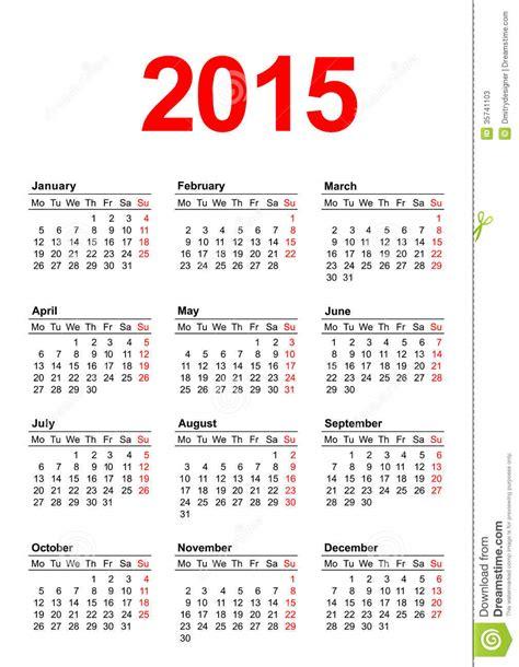 calend 225 europeu 2015 vertical fotos de stock imagem