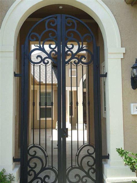custom entry door wrought iron gate designs iron gate