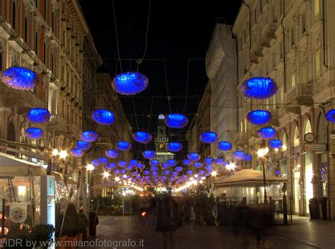 milan italy christmas decorations in dante street