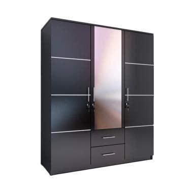 Lemari Pakaian Dan Nya Jual Ben Furniture Lemari Pakaian Black 3 Pintu