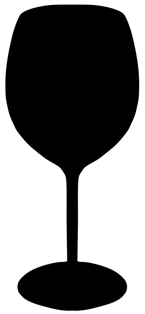 glass svg wine glass silhouette clipart best