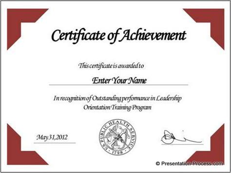 certificate of appreciation template powerpoint free certificate template powerpoint search
