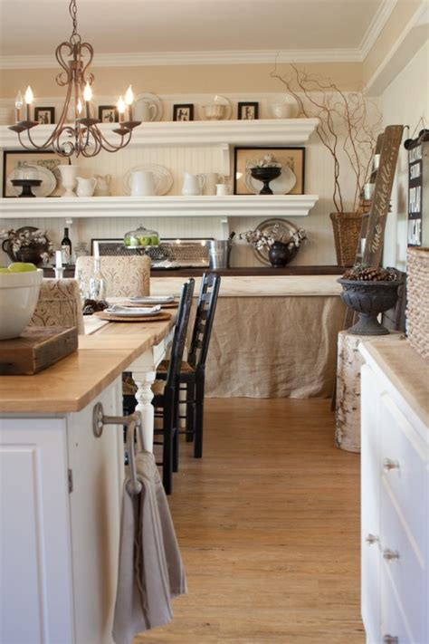 kitchen wall cabinets casual cottage neutral shelving kitchen open shelves pinterest