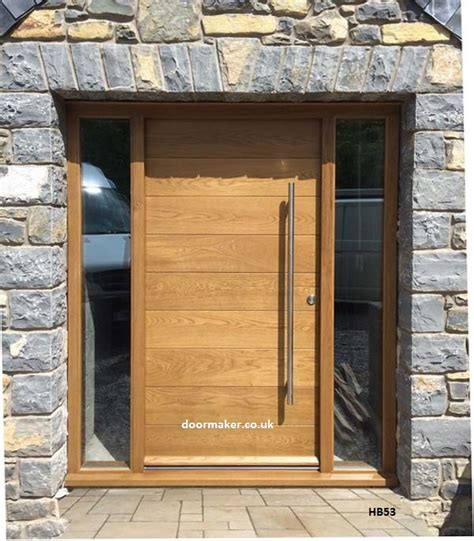 Oak Exterior Doors Contemporary Front Doors Oak Iroko And Other Woods Bespoke Doors