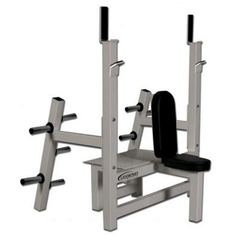 benching 2 plates legend fitness olympic shoulder bench w plate storage