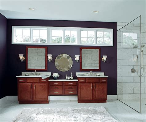 Birch Cabinets In Casual Bathroom Aristokraft Birch Bathroom Cabinets