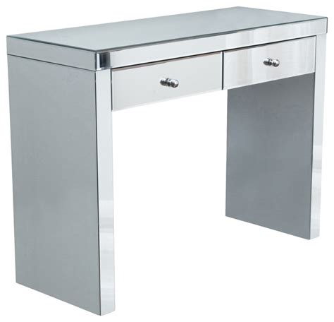 Mirrored Console With Drawers by Jacinda Mirrored 2 Drawer Console Table
