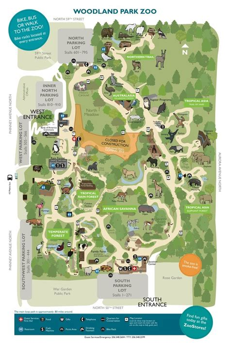 seattle zoo map woodland park zoo maplets