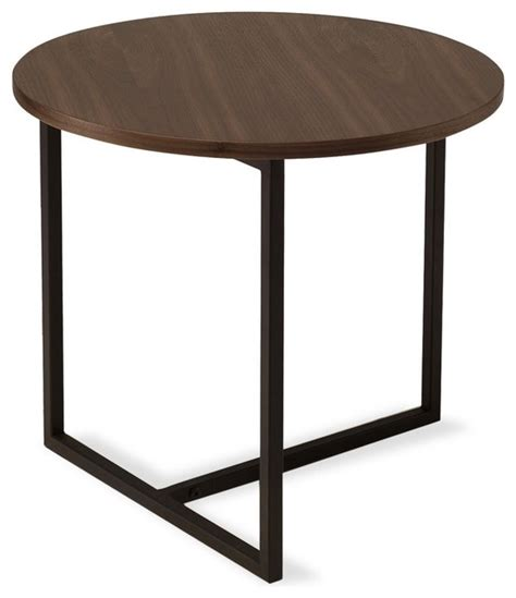 walnut accent table turner walnut round end table modern side tables and