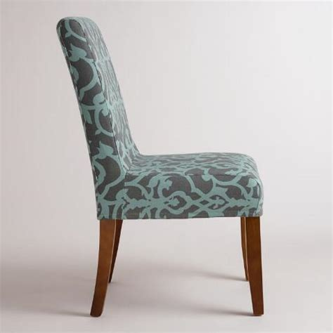 anna slipcover chair timbercove blue anna chair slipcover world market