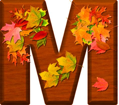 printable leaves with letters presentation alphabets cherry wood leaves letter m