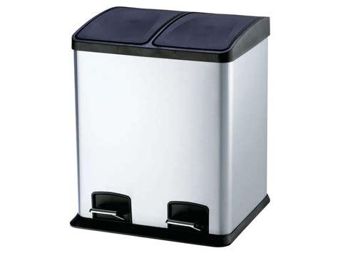 poubelle de tri cuisine poubelle de cuisine 24 l select 24 coloris argent 233 vente