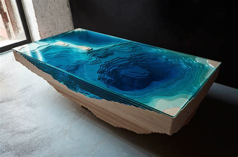 Glass Dining Room Table Tops the abyss table woahdude
