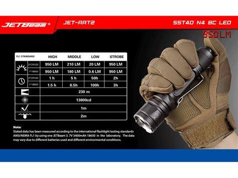 Jetbeam Rrt2 Senter Led Sst40 N4 Bc 950 Lumens jetbeam rrt2 rapid response light 950 lumens sst40 n4 bc led