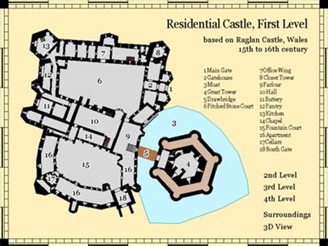 fantasy castle floor plans source maps castles