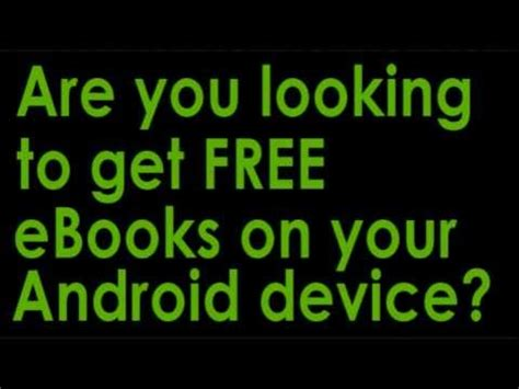 free ebooks for android how to get free android tablet ebooks