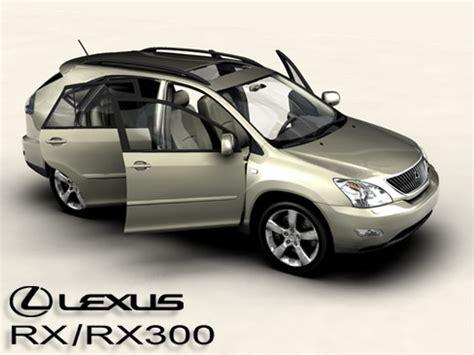 lexus models 2004 lexus rx rx300 2004 3d model max obj 3ds mtl tga cgtrader