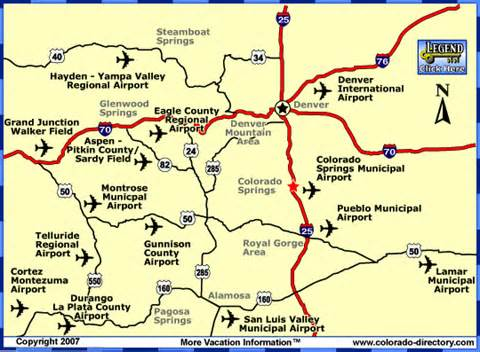 map of colorado airports colorado commercial airports map co vacation directory