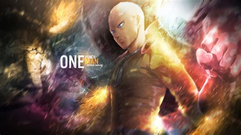 wallpaper 3d one punch man one punch man by redeye27 on deviantart