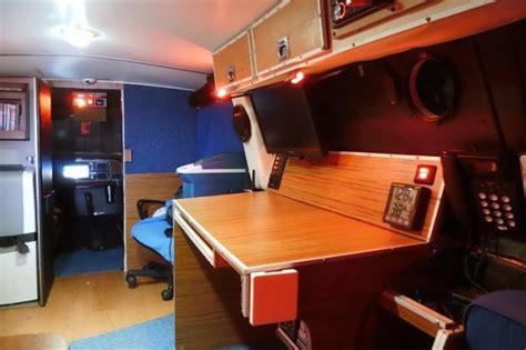 mans diy stealth camper van   mobile office