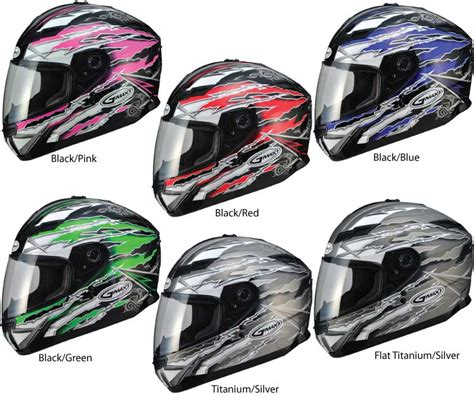 Sticker Helm Gm by Gmax 2013 Gm78 Full Face Graphic Street Helmet Bto Sports