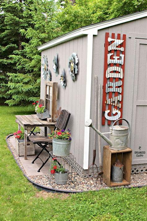junk garden shed organized clutter