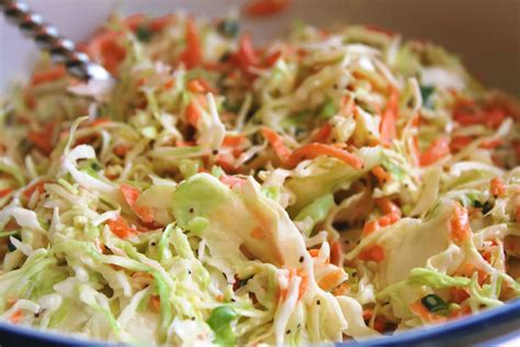 a feast for the eyes creamy homemade cole slaw and an