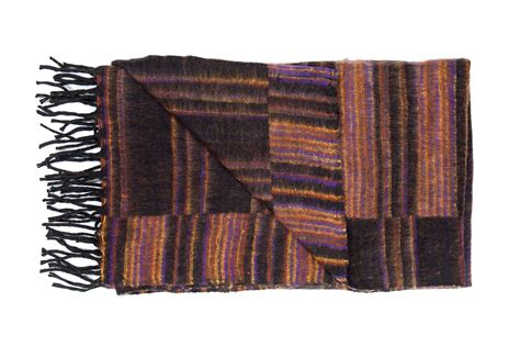 decke plaid decke dunkelbraun gestreift plaids en shawls