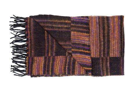 Decke Yakwolle by Decke Dunkelbraun Gestreift Plaids En Shawls