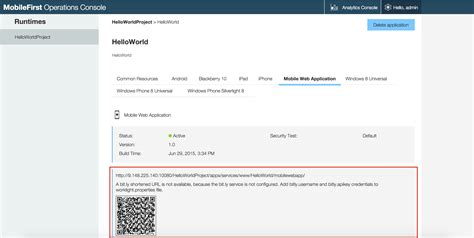 mobile url previewing your hybrid application ibm mobile foundation