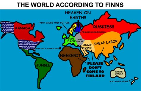 map world according to quot the world according to finns quot farcical map geocurrents