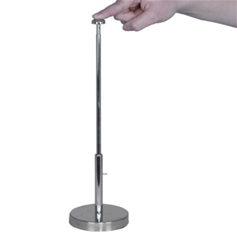 table top advertising flag support base telescoping mini
