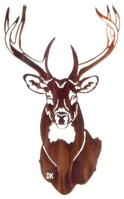Stag Head Home Decor by Buck Rustic Metal Wall Art 20 Quot Rustic Metal Wall Art
