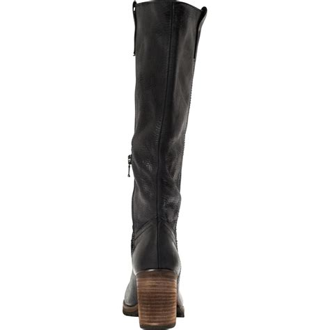 black quot nero quot leather classic knee high boots
