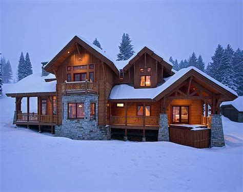 winter houses ski lodge photos produced by precisioncraft log homes