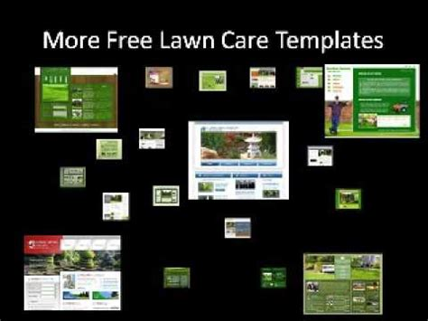 free website templates for youtube free lawn care website templates youtube