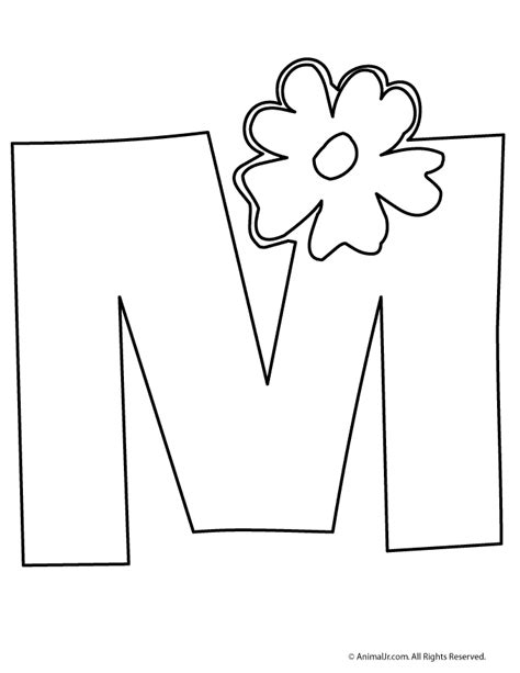 printable letters with flowers flower m pinterest