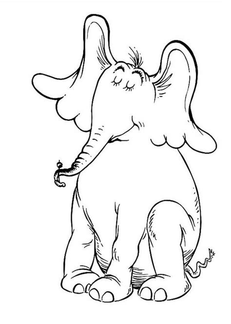 horton hears   coloring pages collection horton