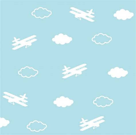 pattern plane video airplanes pattern cute planes and clouds vector free