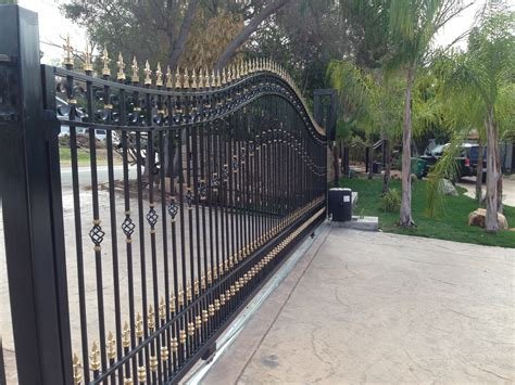 Home Design And Decor exterior design automatic gate openers with wrought iron