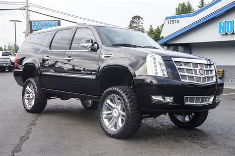 Cadillac Escalade Lifted by Lifted 2014 Cadillac Escalade Esv Platinum Awd Northwest