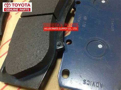 Hilux Dc 12 On Fortuner Vnt Brake Pad Low Metalic F 04465 0k340 genuine toyota hilux front brake pad