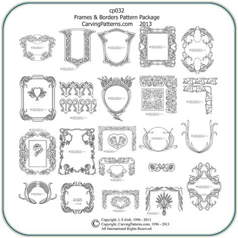 frame pattern ideas classic frames border patterns classic carving patterns