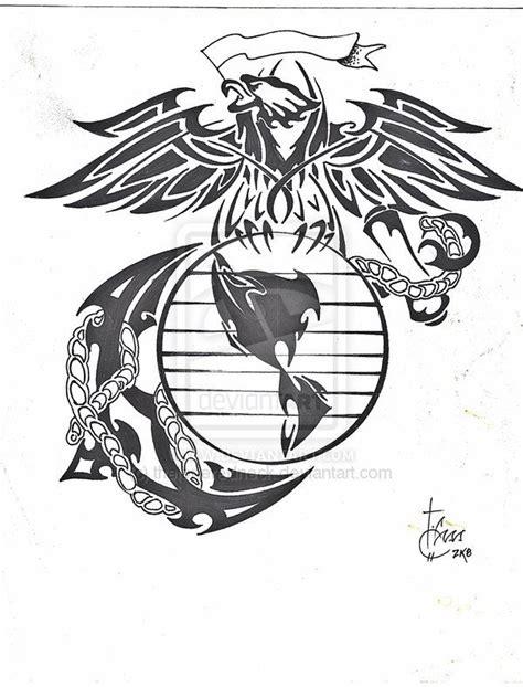 usmc tribal tattoos tribal marine corp logo by theloneredneck on deviantart